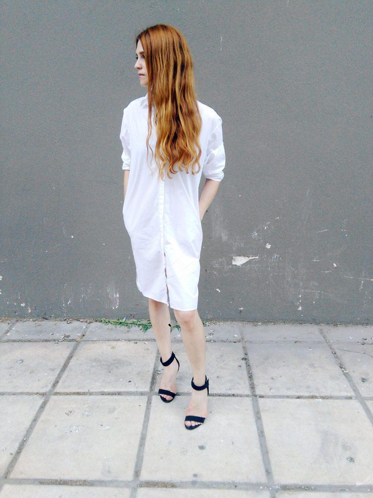 asos white oversized shirt dress capsule wardrobe