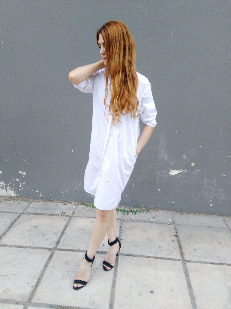 luxe shirt dress asos white capsule wardrobe minimalism
